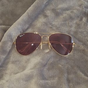 Authentic Ray Ban rose gold aviators